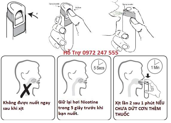 Cách dùng chai xịt cai thuốc lá