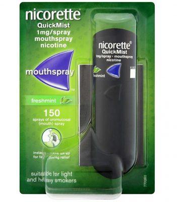Chai xịt cai thuốc lá Nicorette của mỹ