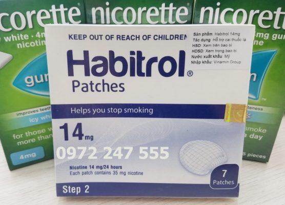 Miếng dán habitrol step 2 hỗ trợ cai thuốc lá hiệu quả