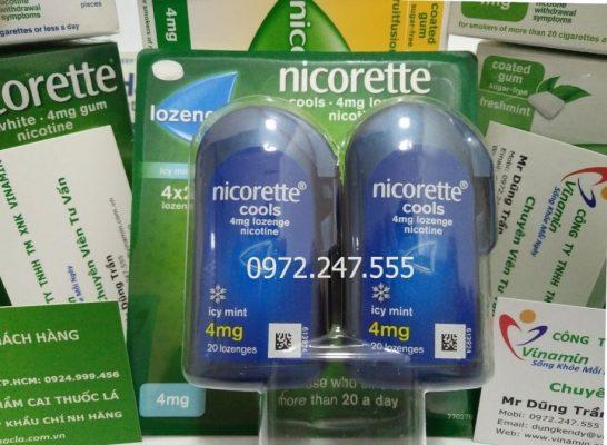 Viên ngậm cai thuốc lá Nicorette Lozenge