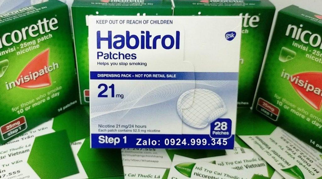 Cao dán cai thuốc lá Habitrol 21mg