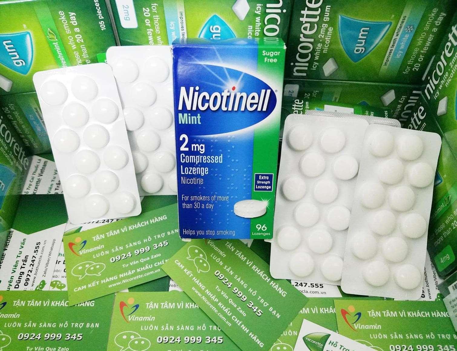 Viên kẹo ngậm cai thuốc lá Nicotinell