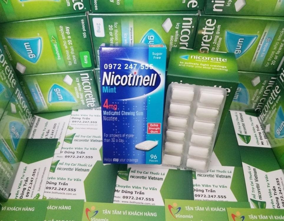 Kẹo nhai cai thuốc lá Nicotinell