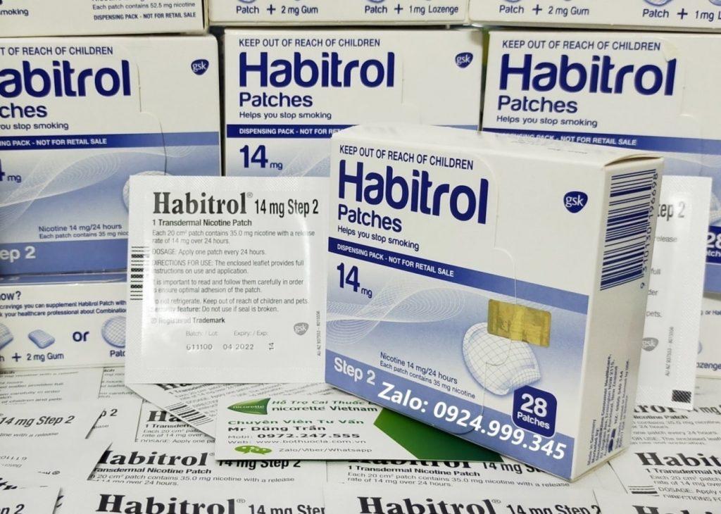 Băng dán cai thuốc lá habitrol
